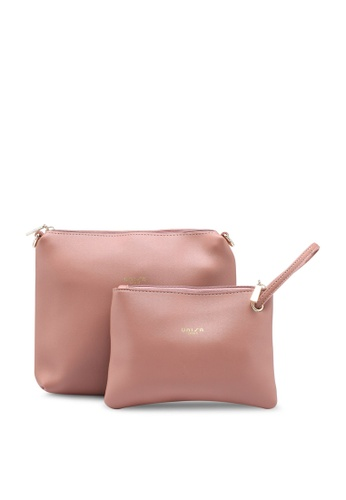 Unisa pink Faux Leather Sling Bag With Wristlet F6995AC422C0FDGS_1