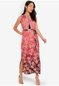 589583b1067 Wallis Petite Red Paisley Print Maxi Dress RM 289.00. Sizes 8 10 12 14 16