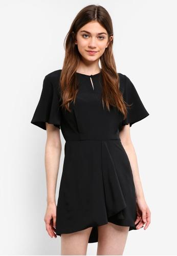 Something Borrowed black Flare Sleeves Fit And Flare Dress 84FDDAADDB45AEGS_1