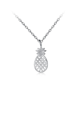 Glamorousky silver 925 Sterling Silver Creative Personality Small Pineapple Pendant with Necklace 1F974AC3E3F9ACGS_1