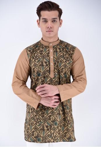 UA BOUTIQUE brown Kurta Batik UAKLB07-081 (Brown) 7DD64AAE27A96FGS_1