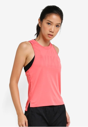 94b03d438640e7 Shop Nike Women s Nike Dry Miler Running Tank Top Online on ZALORA ...