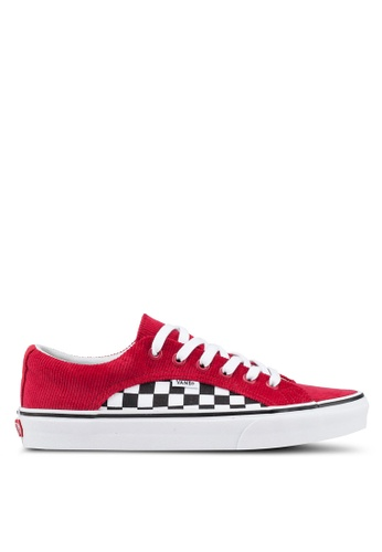 VANS black and white and red Lampin Checker and Cord Sneakers 3B2EDSH9A82F76GS_1