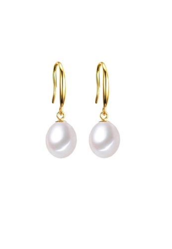 ADORA white Silver Drop Pearl Earrings 043A0AC7AA843AGS_1