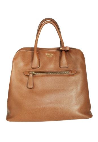 Prada brown Pre-Loved prada Prada Saffiano Cuir Dual Top Handle Bag EA7D8AC33F2EEBGS_1