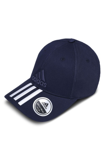 adidas navy adidas performance 6-panels 3 stripes cap cotton AD372AC0SUFJMY_1
