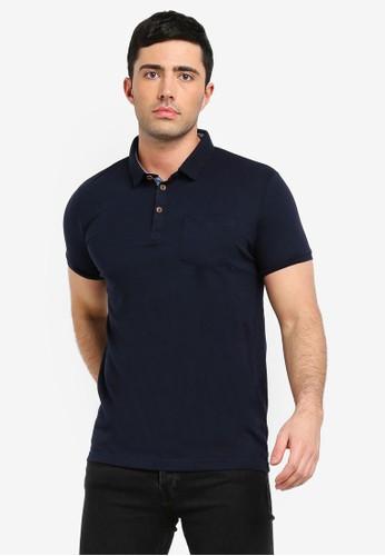 Brave Soul navy Julius Polo Shirt 78044AA731F388GS_1