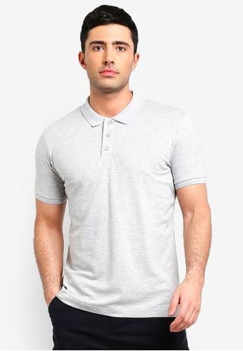 Brave Soul grey Short Sleeve Polo Shirt FD79DAABE3C345GS_1