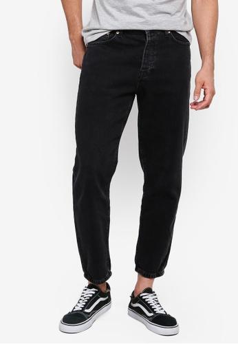 Topman 黑色 質感牛仔褲 14422AA33BD8FFGS_1