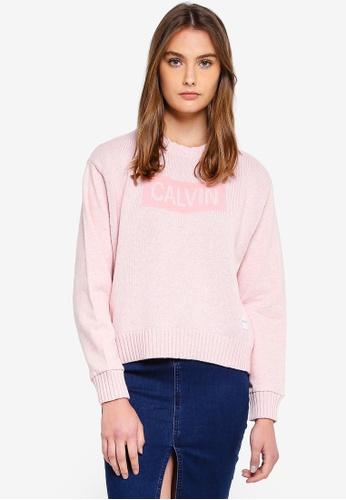 Calvin Klein pink Panel Sweatshirt - Calvin Klein Jeans 90A60AAD15352DGS_1