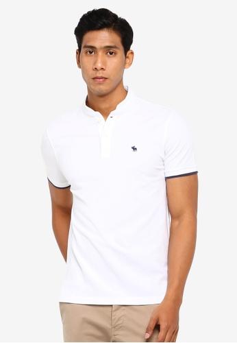 9bb98ba1 Shop Abercrombie & Fitch Mandarin Polo Shirt Online on ZALORA Philippines