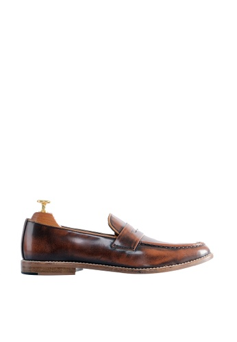 Zeve Shoes brown Zeve Shoes Penny Loafer - Tan Polished Leather 43FE3SHF65845CGS_1