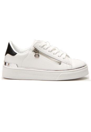 Crystal Korea Fashion 白色 韓國製新款百搭舒適休閒鞋 09A14SHE130409GS_1
