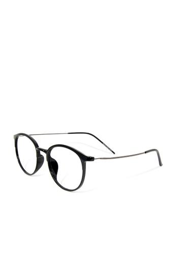 ASLLY black Chaplin'cabaret│Anti-blue light glasses with black detailed frame 9A569GLA539F76GS_1