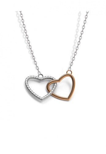 Aurora Italia white Aurora Italia Kalung Preciosa Auroses Love Affinity Pendant-18 K White Gold B8C8DACD58D262GS_1
