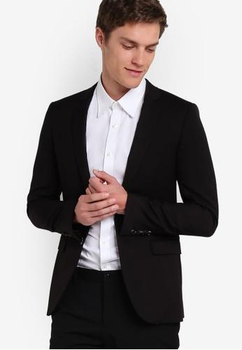 Topman black Black Ultra Skinny Fit Suit Jacket TO413AA06RZHMY_1