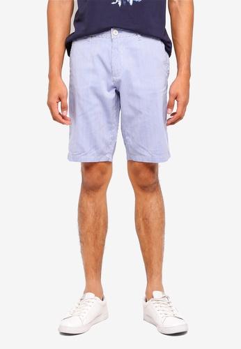OVS 藍色 休閒條紋短褲 C8937AA2039FE9GS_1