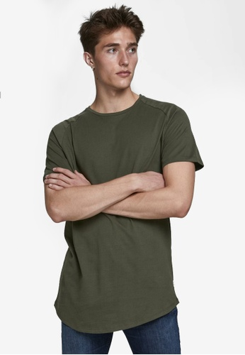 Jack & Jones green Curved Short Sleeves O-neck Tee 98971AA6ABE98FGS_1
