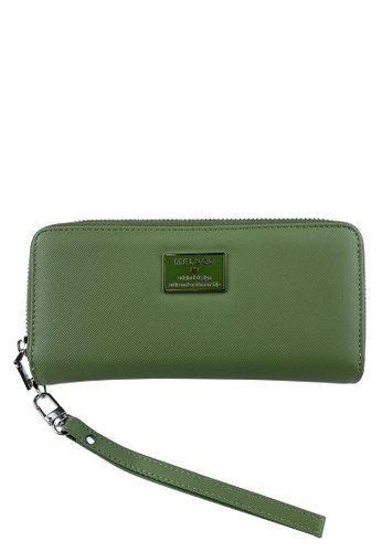 Mel&Co green Faux Leather Zipped Around Wallet 01DDEAC89E291CGS_1