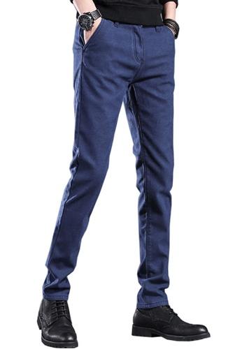 Twenty Eight Shoes 海軍藍色 VANSA 簡約修身加絨西褲 VCM-P505V 58B20AAA1829A8GS_1