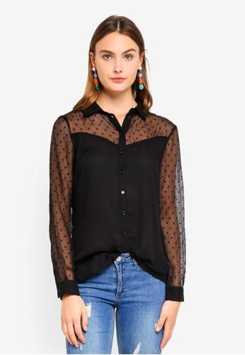 Brave Soul black Sheer Heart Shirt 4525CAAA71218BGS_1