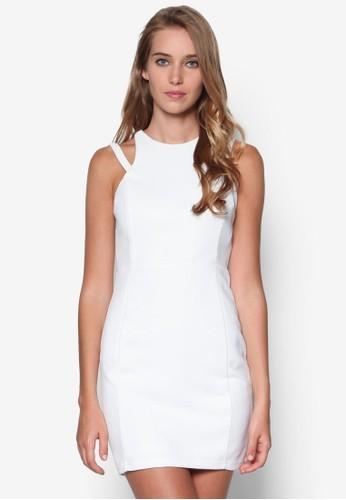 交叉肩帶素色洋裝,esprit童裝門市 服飾, 緊身洋裝