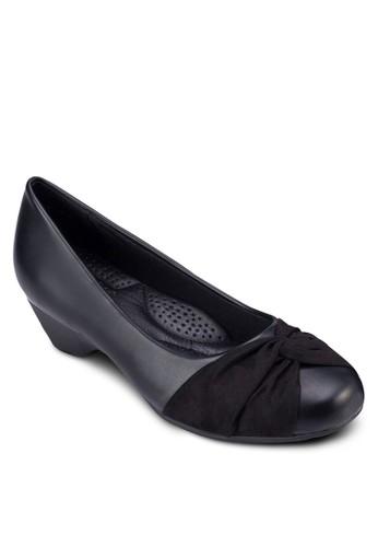 扭結圓頭中跟esprit官網楔型鞋, 女鞋, 鞋