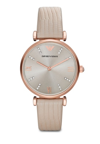 ARMANI grey and beige Nude / Warm Grey Armani AR1681 Watch AR024AC95MVKMY_1