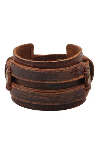 HAPPY FRIDAYS Wide Vintage Leather bracelet QNW2166 C452EACD4633A5GS_1