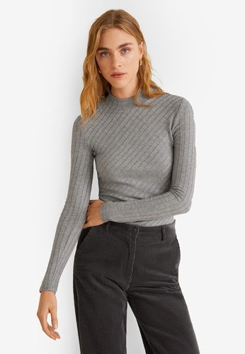 2ef204ae65fac Shop MANGO Ribbed High Neck Top Online on ZALORA Philippines