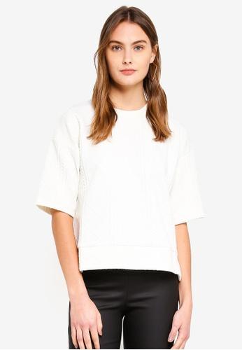 ESPRIT 白色 短袖棉T B1E1FAAC6C77DAGS_1