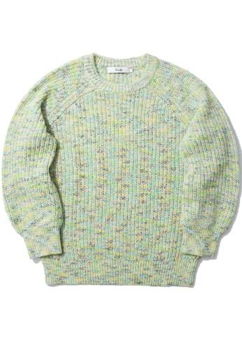 b+ab yellow Raglan knit sweater B23A4AA98DAE8EGS_1