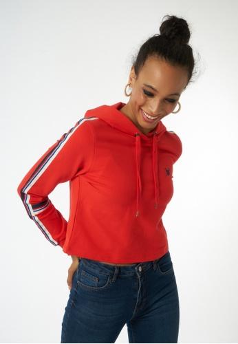 Auden Cavill 紅色 Auden Cavill Women Cropped Sweatshirt With Hoodie 51876AA5F6A3ADGS_1