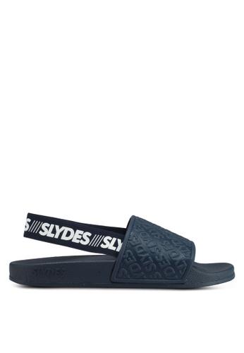 Slydes 海軍藍色 時尚潮流繞帶涼鞋 1B61BSHA913953GS_1
