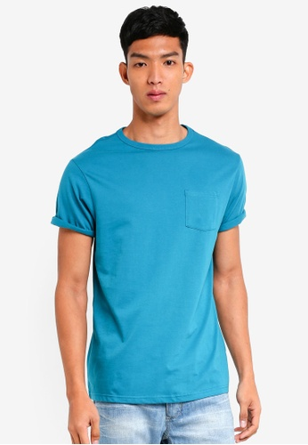 River Island green Turquoise Pocket Tee CBDE2AAA38A194GS_1
