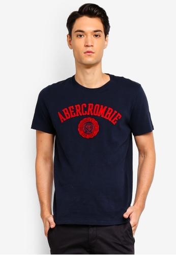 Abercrombie & Fitch 海軍藍色 LOGO印花T恤 5D2DFAAE0CCE97GS_1