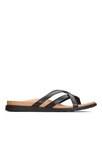Vionic black Daisy Toe Post Sandal E95E4SH1B46428GS_1