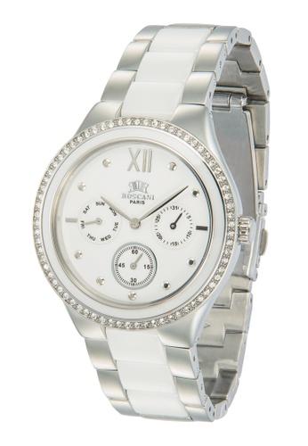Roscani silver Roscani Scarlett 975 (Multifunction + WR 5ATM) Stainless Steel White Bracelet Men Watch 42E5CACFDB7A39GS_1