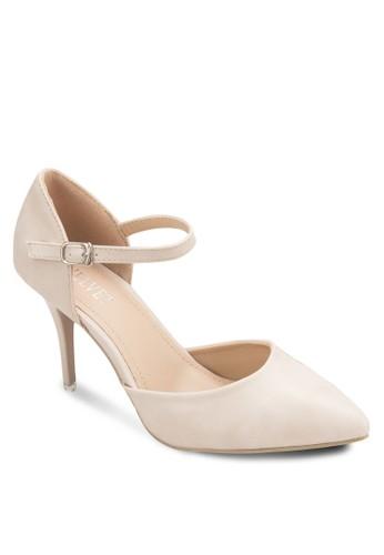 esprit品牌介绍Carman 側空繞踝高跟鞋, 女鞋, 鞋