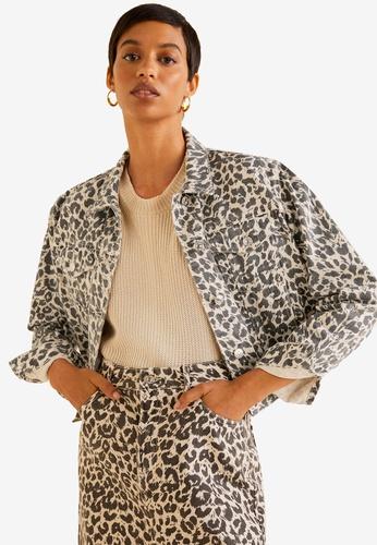 f89ef993c2a8 Shop Mango Leopard Denim Jacket Online on ZALORA Philippines