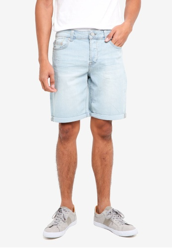 Only & Sons blue Ply Shorts 76262AAB5A7F96GS_1