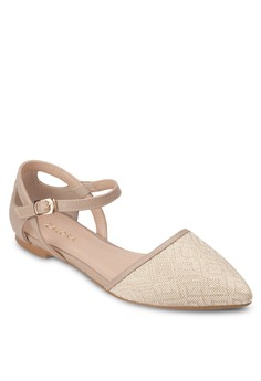 Cut-Out Pointed Ballerinas