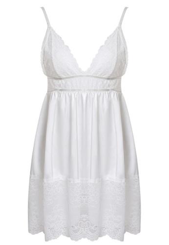 SMROCCO white Juliet Lingerie Nightie Dress PM8077 (White) 48559AABF8815FGS_1