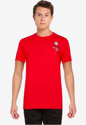 Hollister red Throwback Print T-Shirt AA4E1AA2D1ABDEGS_1