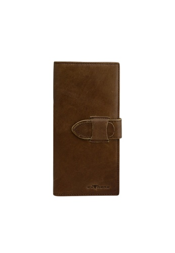 EXTREME brown Extreme Vintage Genuine Leather Long Wallet Multiple Card Slots Light Brown E995BACA03867CGS_1