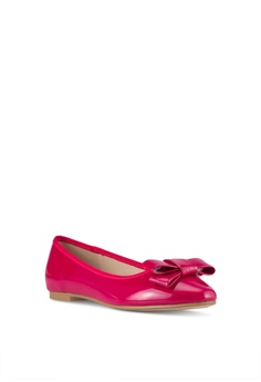 25745e223d6b Velvet Faux Patent Leather Bow Flats S  34.90. Available in several sizes