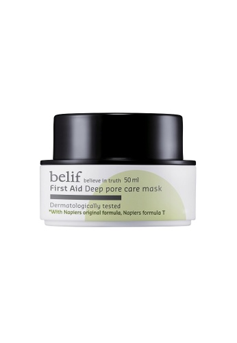 belif black and white and green First Aid – Deep Pore Care Mask BE496BE0RS5UMY_1