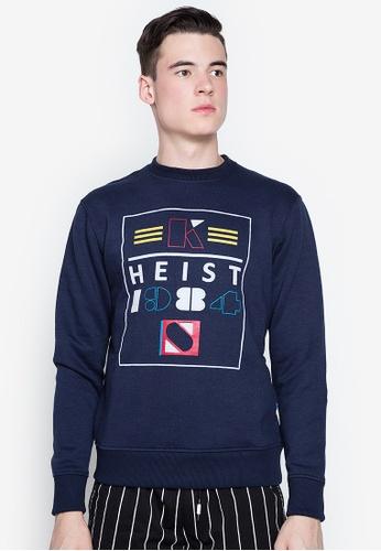 Springfield blue Heist Box Sweatshirt 001A1AA7787A91GS_1