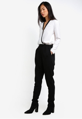 ZALORA black and white Tailored Jumpsuit 5723AZZ03259A9GS_1