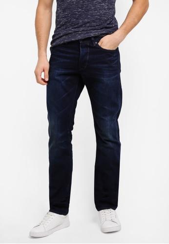 Superdry 藍色 休閒直筒牛仔褲 SU137AA0T22TMY_1